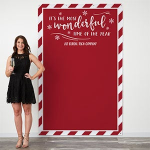 Personalized Holiday Photo Backdrop - Most Wonderful Time - 19712