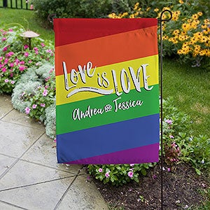 Personalized Love Is Love Equality Garden Flag - 19736