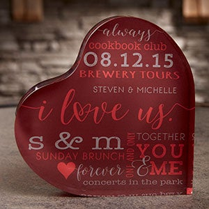 I Love Us Personalized Heart Keepsake - 19739