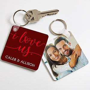 Personalized Photo Keychain - I Love Us - 19740