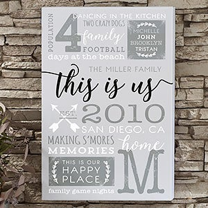 Personalized Canvas Prints - This Is Us - 19744