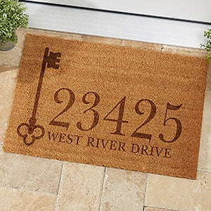 Personalized Address Coir Doormats - House Key - 19818