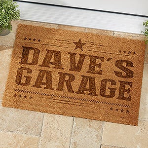 Charmant Personalized Coir Garage Doormat For Men   19819