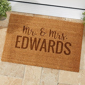 Personalized Coir Doormats - Family Name - 19825