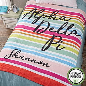 Personalized Sorority Blankets - Alpha Delta Pi - Fleece - 19834