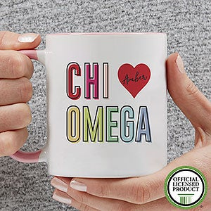 Personalized Sorority Mugs - Chi Omega - 19835