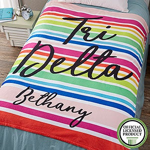 Personalized Sorority Blankets - Delta Delta Delta - Fleece - 19842
