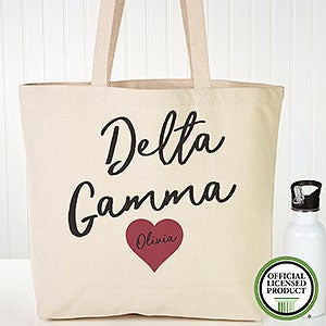Personalized Delta Gamma Sorority Tote Bag - 19845