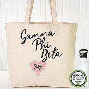 Personalized Gamma Phi Beta Sorority Tote Bag - 19853
