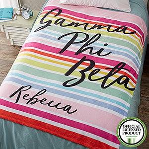 Personalized Sorority Blankets - Gamma Phi Beta - 19854