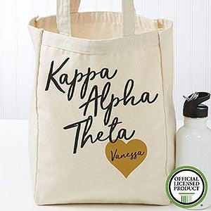 Personalized Kappa Alpha Theta Sorority Tote Bag - Small - 19856