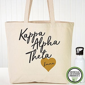 Personalized Kappa Alpha Theta Sorority Tote Bag - 19857