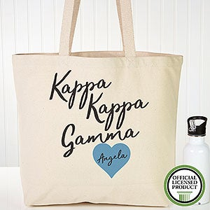 Personalized Kappa Kappa Gamma Sorority Tote Bag - 19865