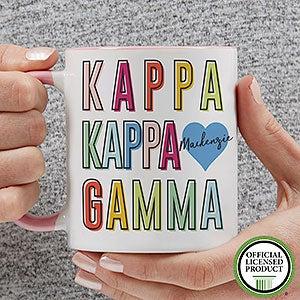 Personalized Sorority Mugs - Kappa Kappa Gamma - 19867