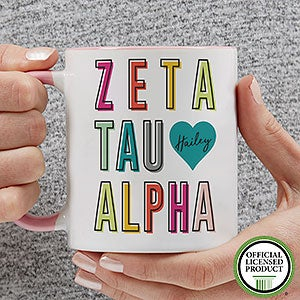Personalized Sorority Mugs - Zeta Tau Alpha - 19875