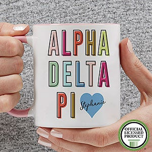 Personalized Sorority Mugs - Alpha Delta Pi - 19876