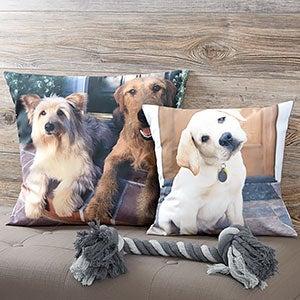Pet Photo Memories Personalized Throw Pillow - 19893