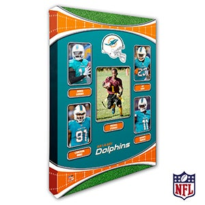 Personalized NFL Wall Art - Miami Dolphins Art - 19945