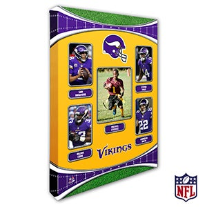 Personalized NFL Wall Art - Minnesota Vikings Art - 19946