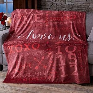 Personalized Fleece Blankets - I Love Us - 19969