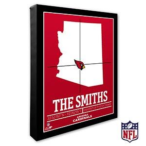 Arizona Cardinals Personalized NFL Wall Art - 19981