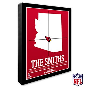 Arizona Cardinals Personalized NFL Wall Art - 19981
