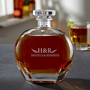 Personalized Business Logo Engraved Whiskey Decanters - 20031