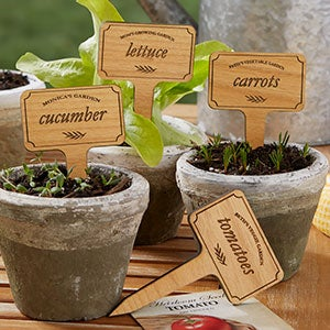 Personalized Plant Markers - Vegetable Garden - 20033