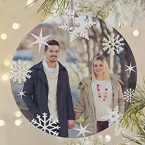 Personalized Snowflake Photo Christmas Ornament - 20048
