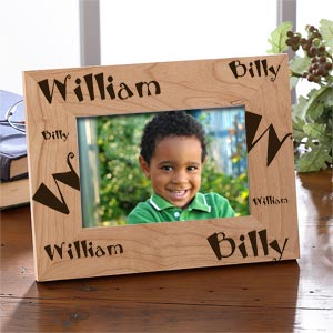 Personalized Kids Name Wooden Picture Frame - 2005