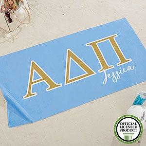 Alpha Delta Pi Personalized Beach Towel - 20071