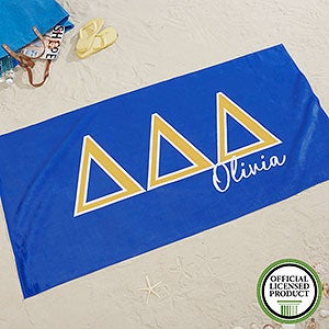 Tri Delta Personalized Beach Towel - 20073