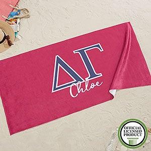 Delta Gamma Personalized Beach Towel - 20074