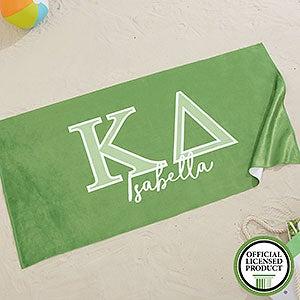 Kappa Delta Personalized Beach Towel - 20079