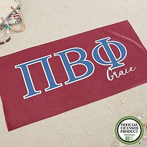 Pi Beta Phi Personalized Beach Towel - 20082