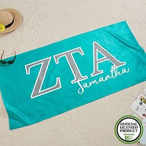 Zeta Tau Alpha Personalized Beach Towel - 20084
