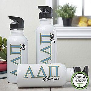 Personalized Alpha Delta Pi Water Bottle - 20089