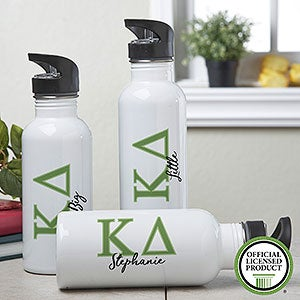 Personalized Kappa Delta Water Bottle - 20096