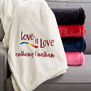 Love Is Love Personalized Fleece Blankets - 20122