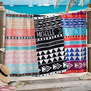 Bohemian Chic Personalized Beach Towel - 20142
