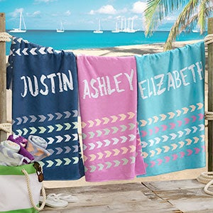 personalized kids beach towels with names tribal