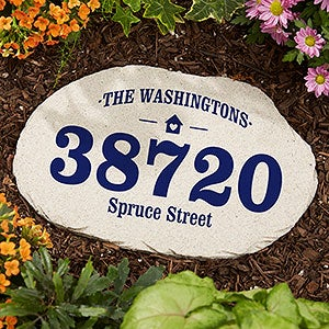 Home Address Personalized Garden Stone - 20170
