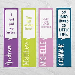 Write Your Own Personalized Bookmarks - Set of 4 - 20201