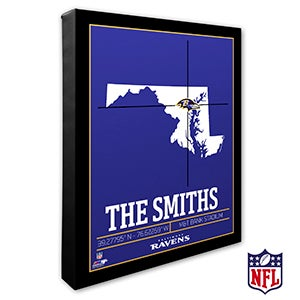 Baltimore Ravens Personalized NFL Wall Art - 20207