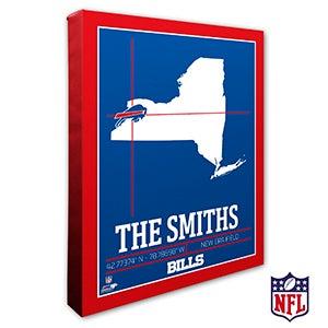 Buffalo Bills Personalized NFL Wall Art - 20208