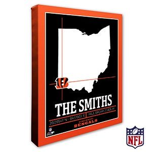 Cincinnati Bengals Personalized NFL Wall Art - 20211