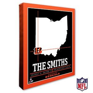 Cincinnati Bengals Personalized NFL Wall Art - 20211