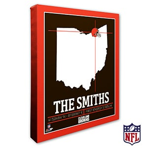 Cleveland Browns Personalized NFL Wall Art - 20212