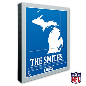 Detroit Lions Personalized NFL Wall Art - 20215