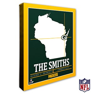 Green Bay Packers Personalized NFL Wall Art - 20216